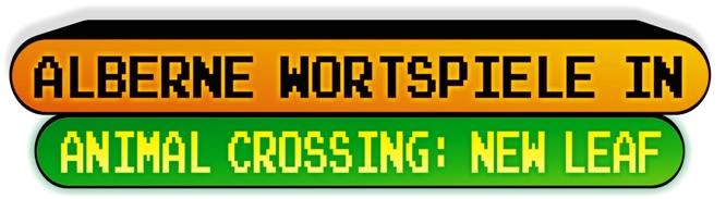 Top Ten - AnimalCrossing Wortspiele